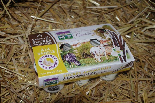 6 yaourts sucrés aromatisés vanille