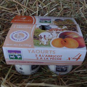 Yaourts pêche abricot vente en ligne 86
